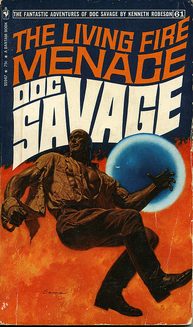 Doc Savage The living fire menace