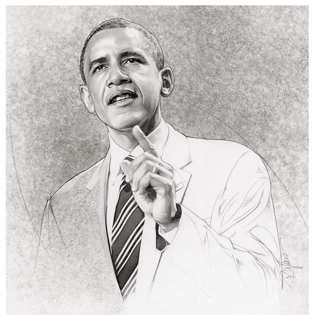 Portrait Watercolor Obama