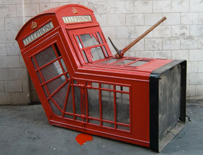 banksy soho phone box