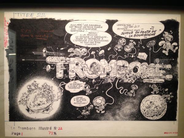 couverture trombone illustré espace