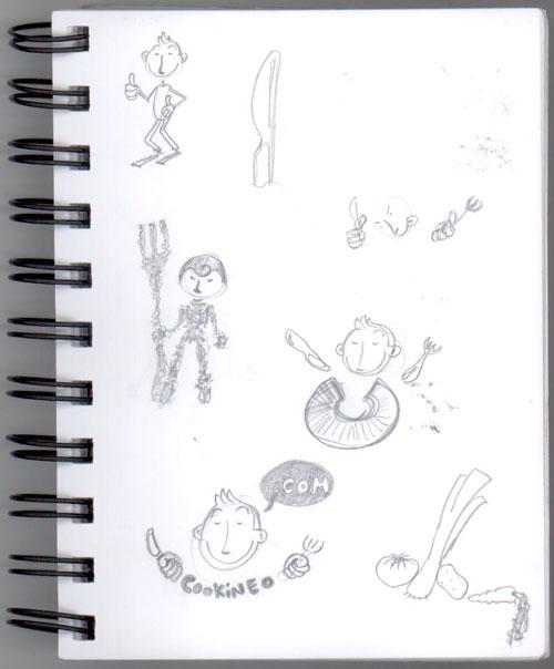 Crayonnés divers pour Cookineo