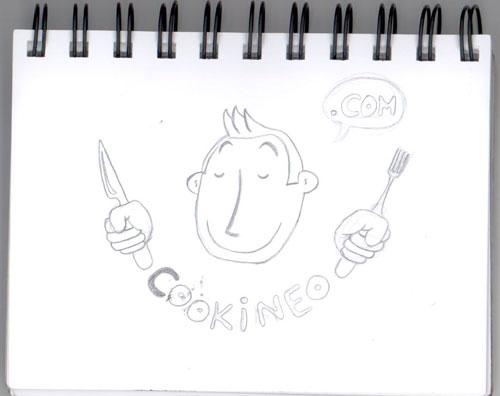 Crayonné définitif pour la mascotte Cookineo