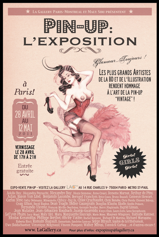 Affiche Pin-up : L'exposition