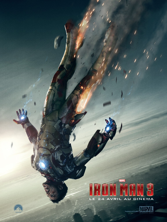 iron man 3 falling