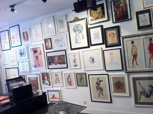 Pin-up : L'exposition - cadres et dessins