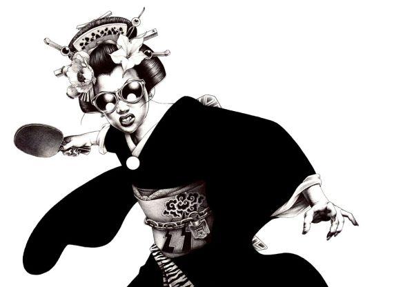ping pong geisha shohei hakuchi