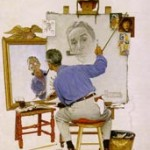 norman rockwell autoportrait