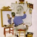 norman rockwell autoportrait