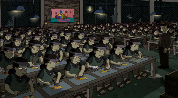 simpsons banksy animation factory