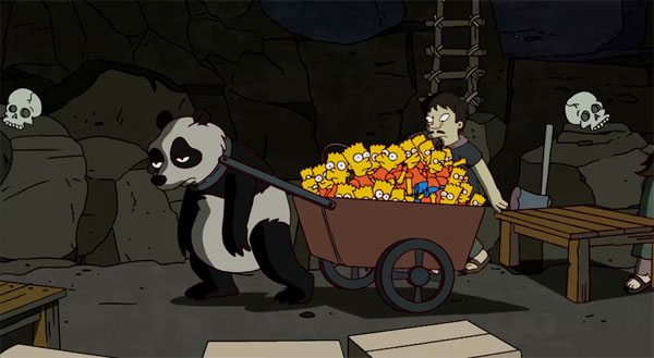 simpsons banksy slave panda