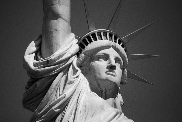statue libert tri-x kodak