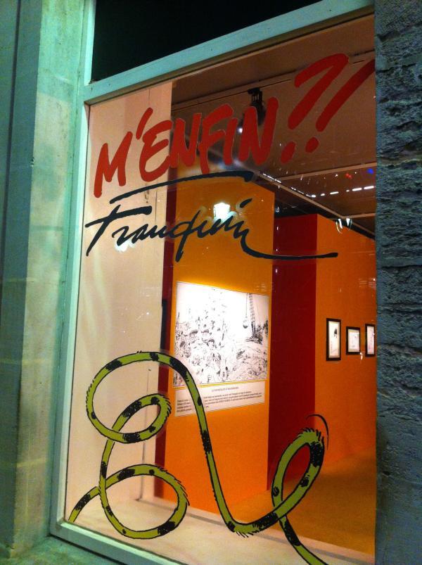 vitrine exposition franquin